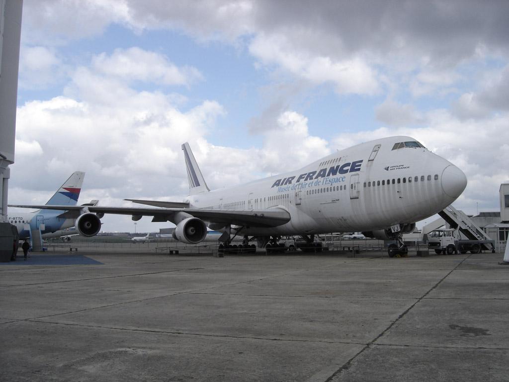 Le Boing 747 exposé au musée de l'air et de l'espace