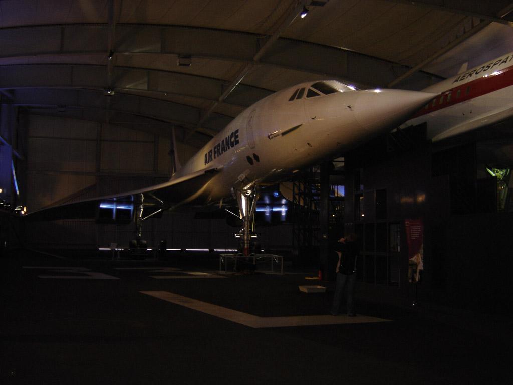 L'un des 2 Concorde du musée de l'air et de l'espace