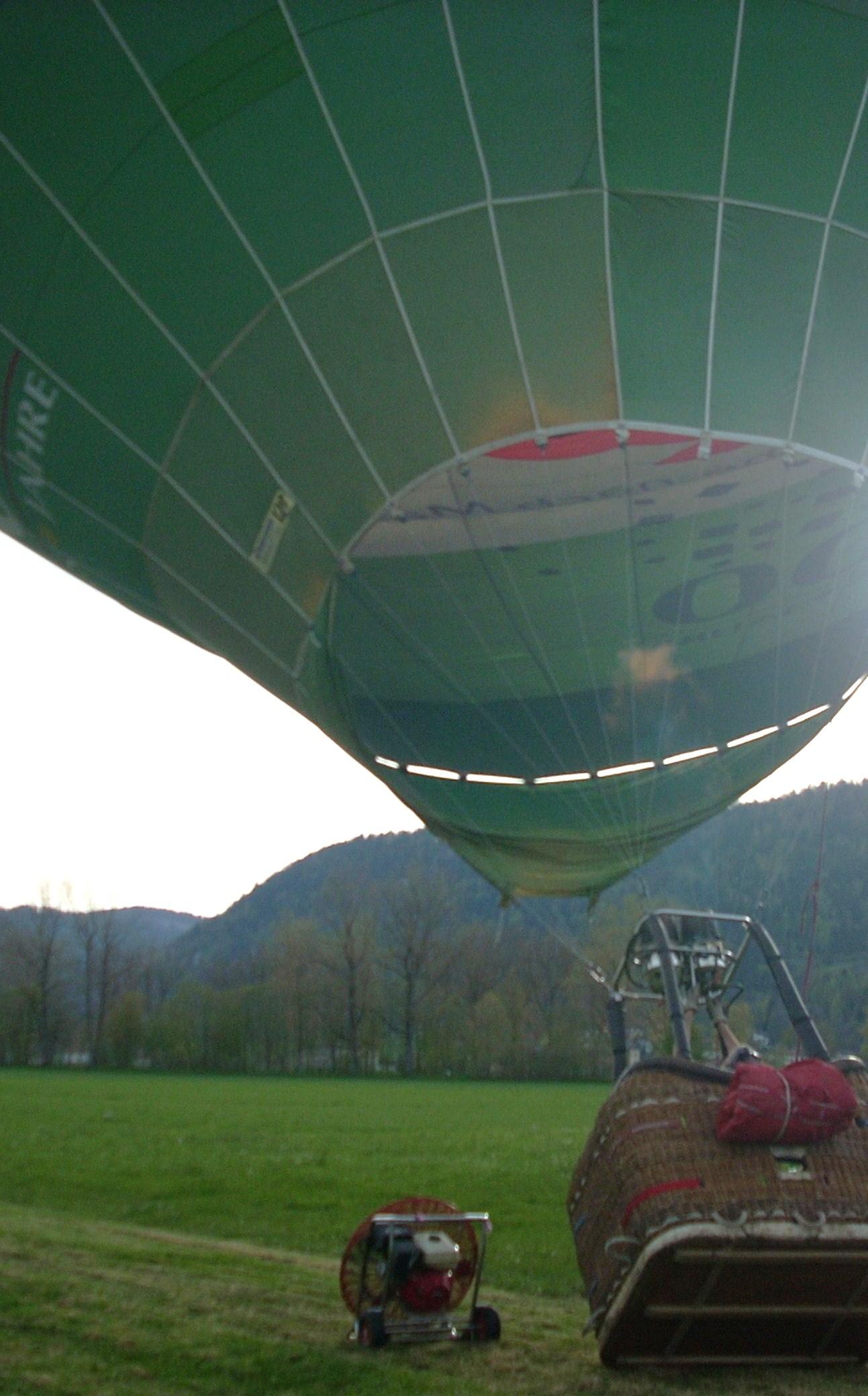 Le gonflage du balon