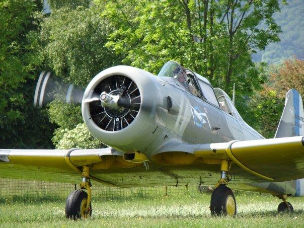 Le T6, ici au retours de son vol
