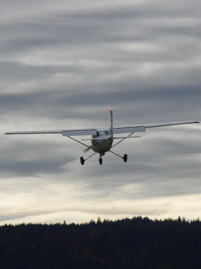 Cessna 152 en fin d'aprés-midi