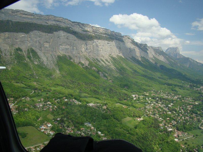 La vue à gauche pendant la finale 04 sur Grenoble !