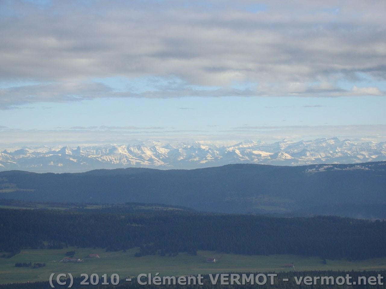 Les Alpes vus du ciel en ce jeudi 27 octobre 2010