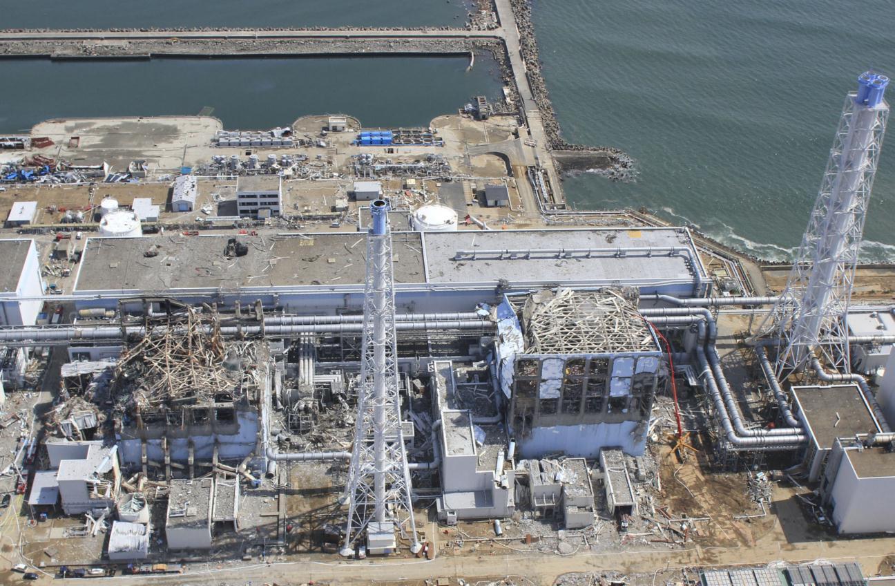 Photo haute résolution de la centrale de Fukushima le 24 mars 2011, prise par un drone non habité