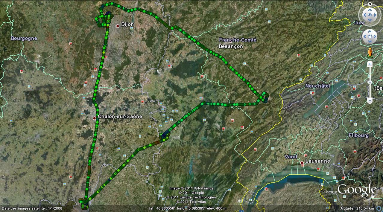 La trace GPS de cette nav LFSP-LFGI-LFLM-LFGL-LFSP