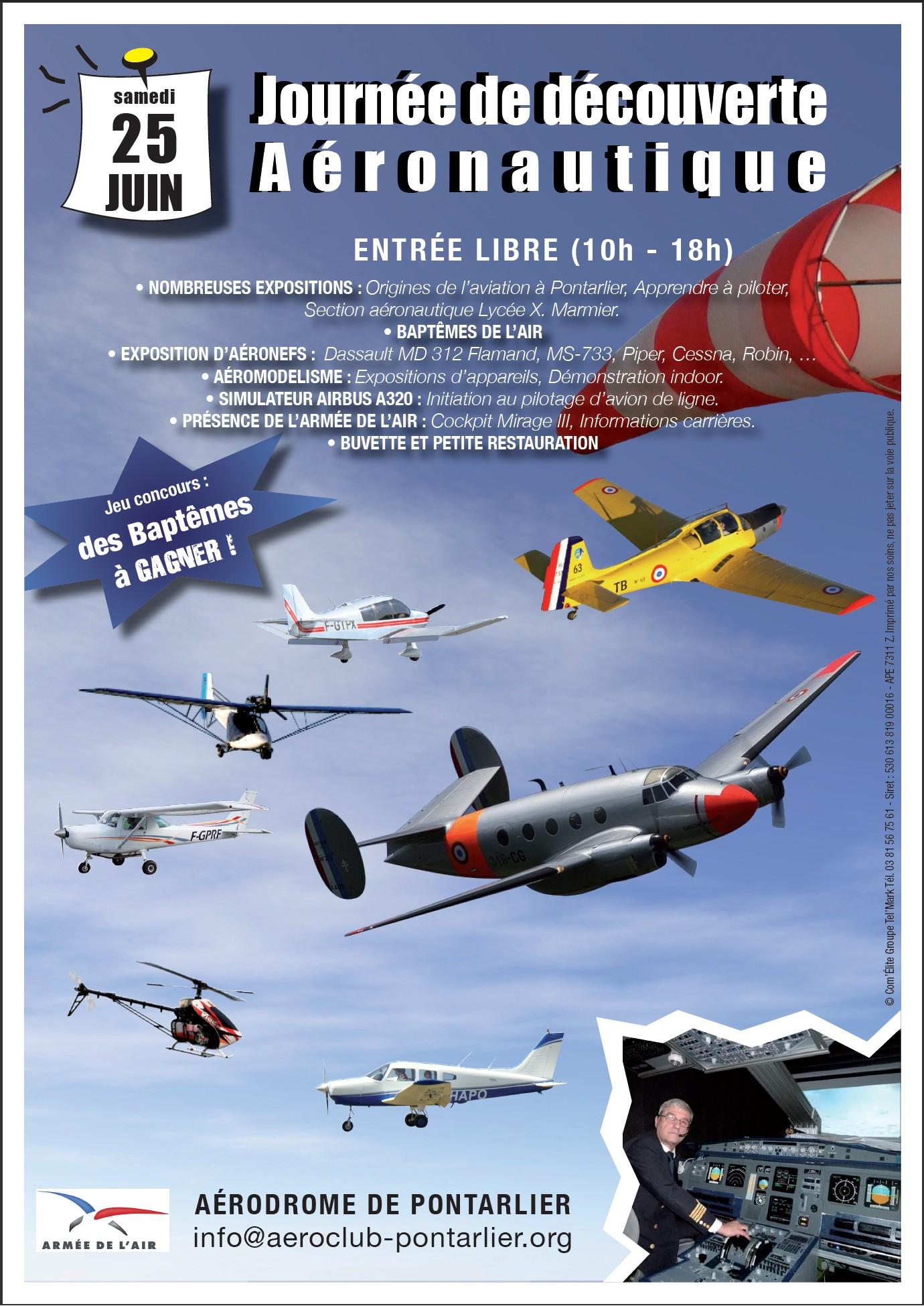 Journée Découverte Aéronautique - Aérodrome de Pontarlier - 25 juin 2011