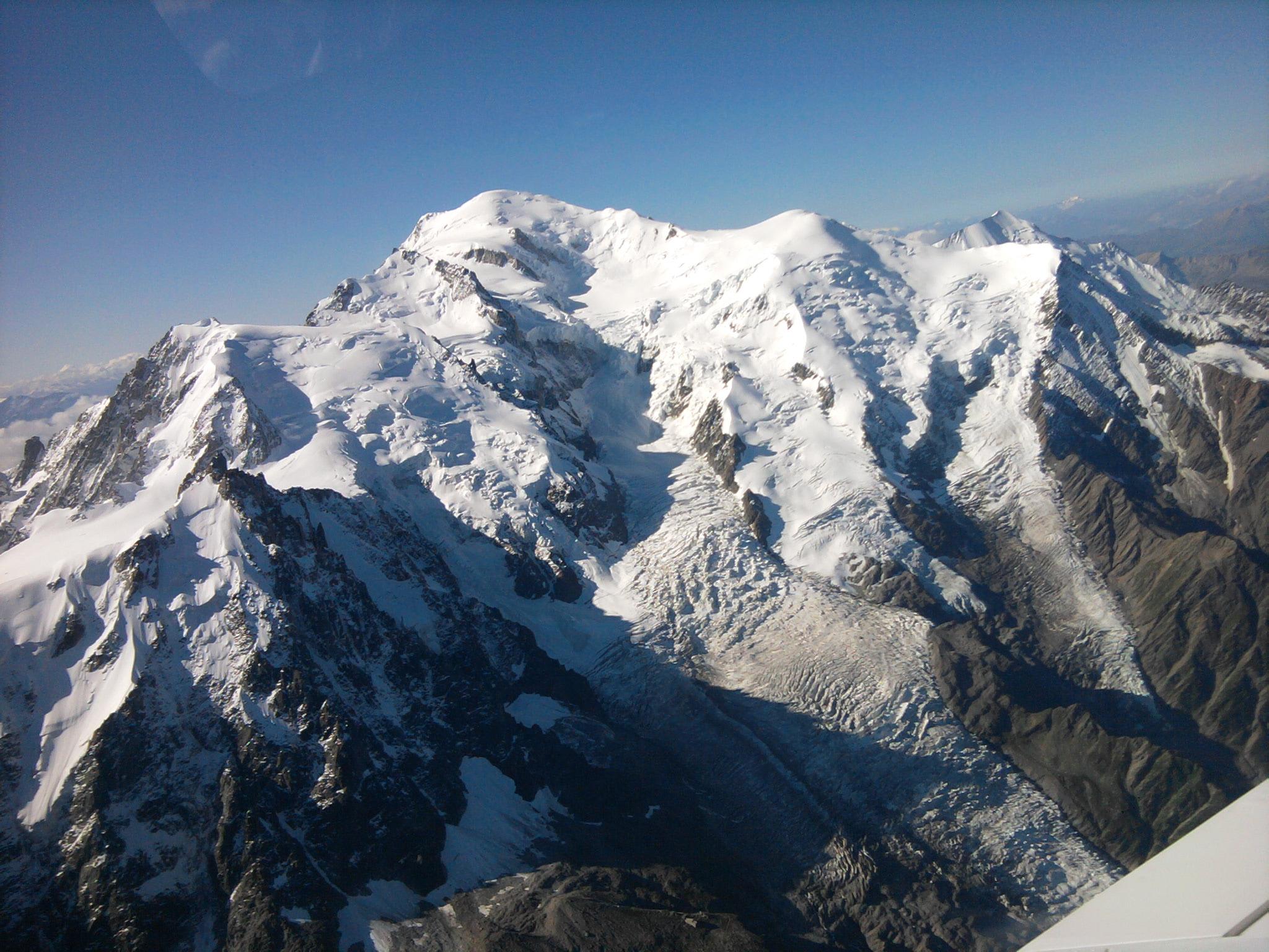 Sur le retour, une vue un peu plus globale du massif Mont Blanc