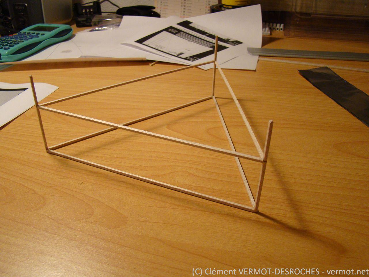 La structure en balsa du lifter