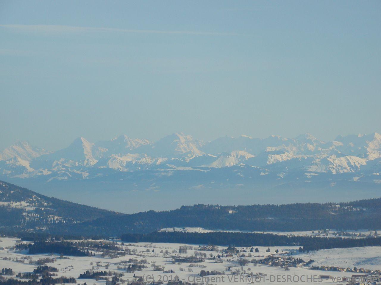 Les Alpes vus depuis Pontarlier