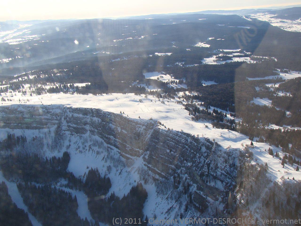 La falaise du mont d'Or (désolé pour les reflets...)