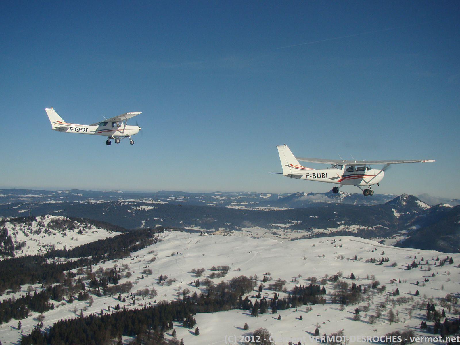 Les 2 avions au Mont d'Or
