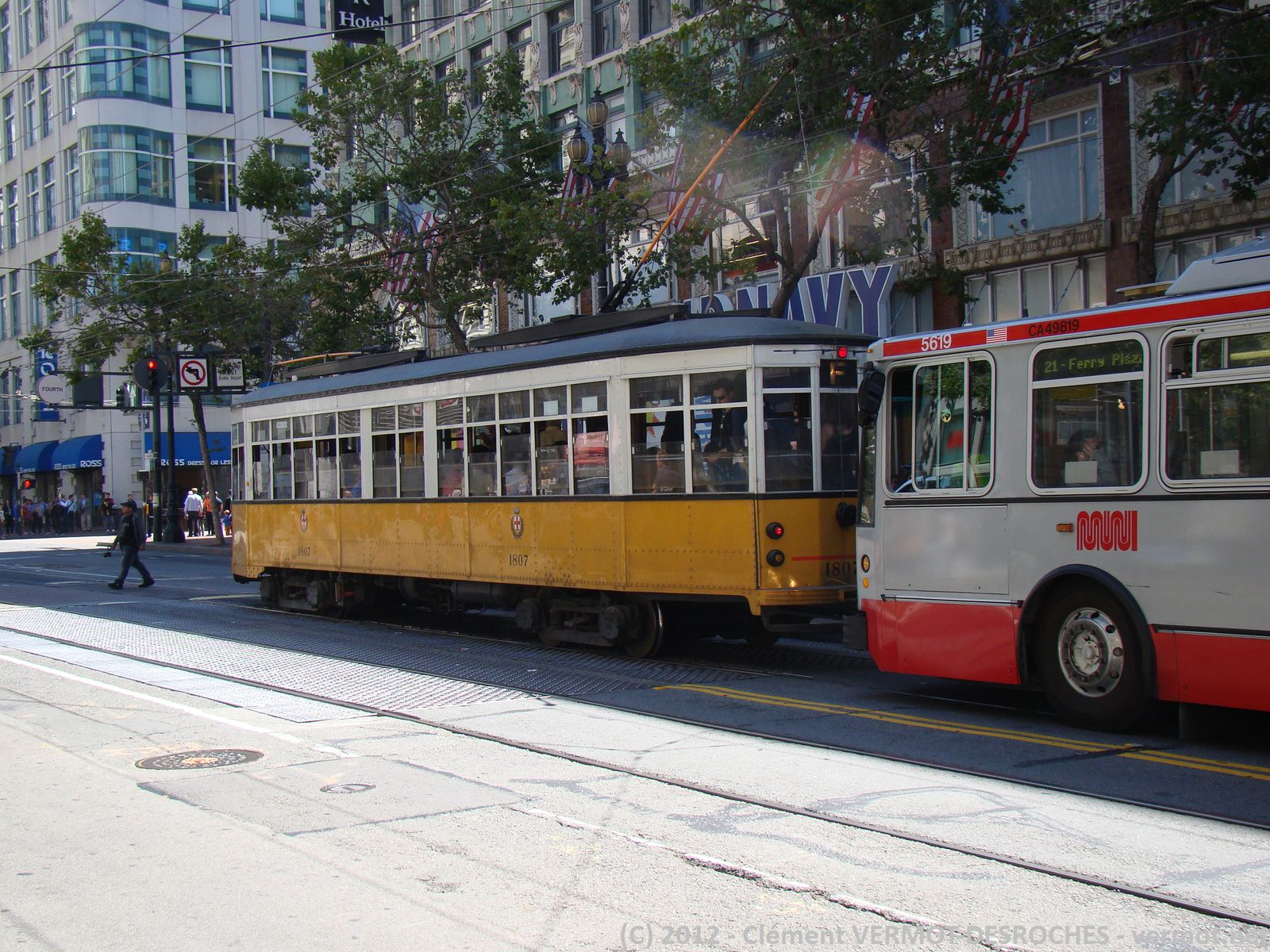 L'authentique tramway de SFO...