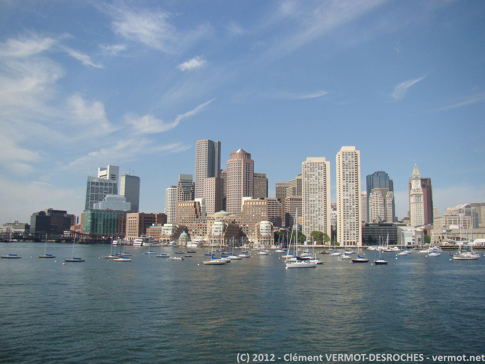 Départ pour le parc naturel pour voir les balènnes, superbe vue sur Boston