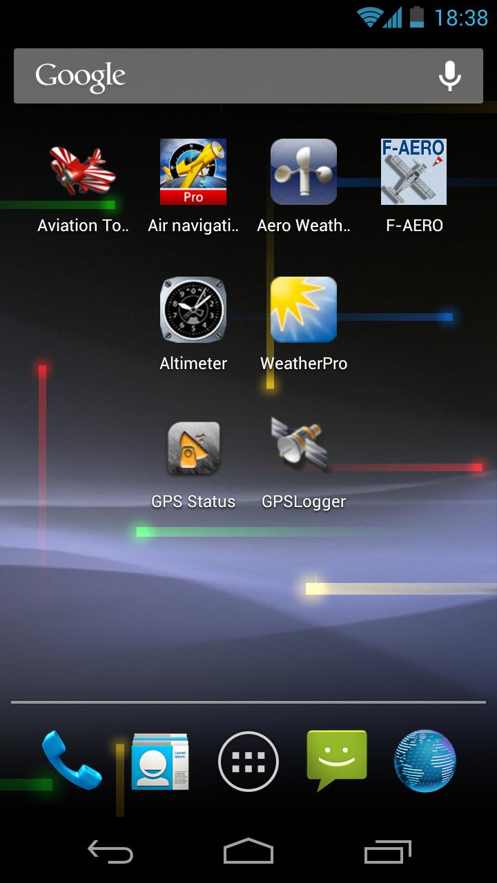 Applications aéronautiques sur Android