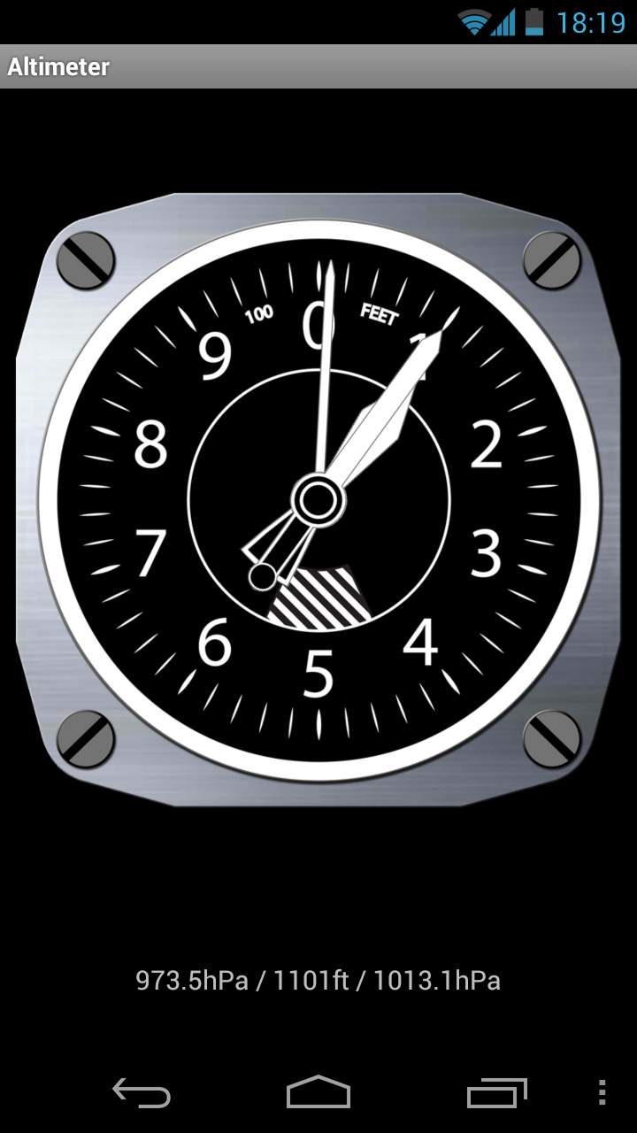 Altimeter en fonction