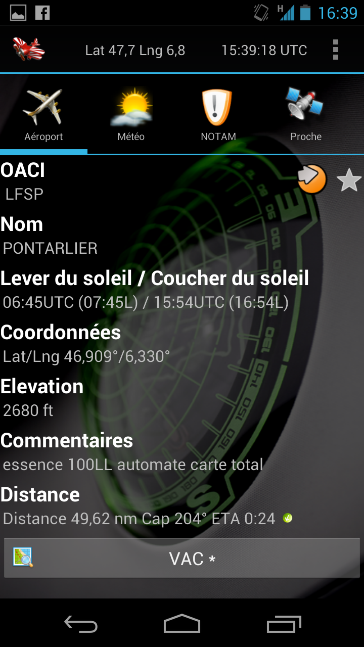 Aviation Tools sous Android