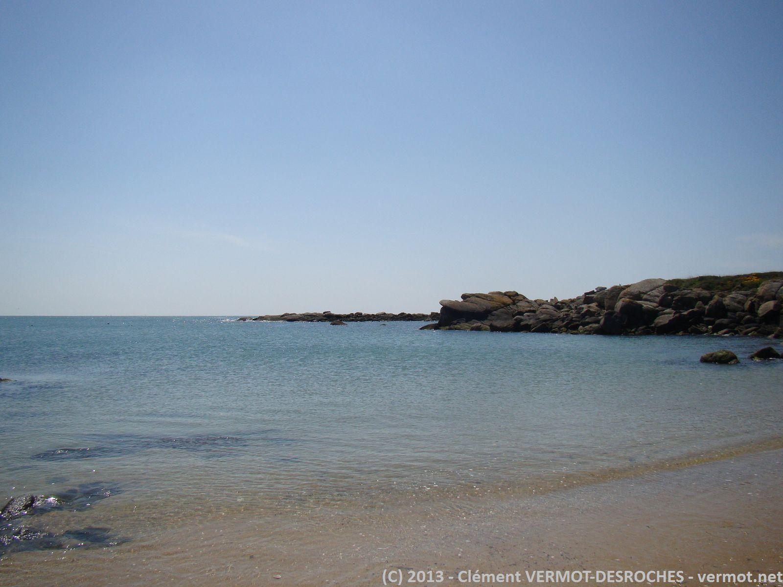 La plage ou nous avons trempé nos pieds