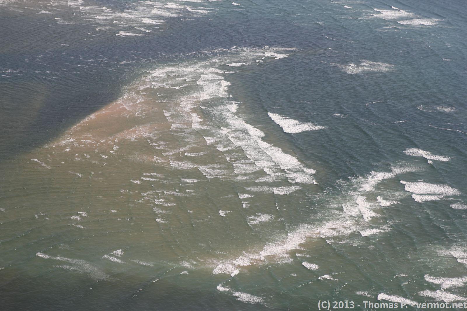 On voit très bien la marée descendre