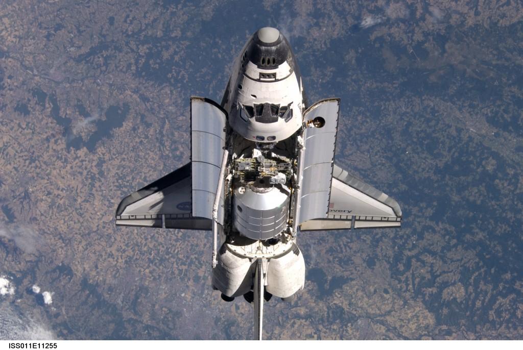 La navette spatiale américaine au dessus du Massif Central : Clermont-Ferrand, Vichy, Ambert, Issoire