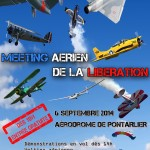 L'affiche officielle du Meeting de la Libération à Pontarlier le 6 septembre 2014