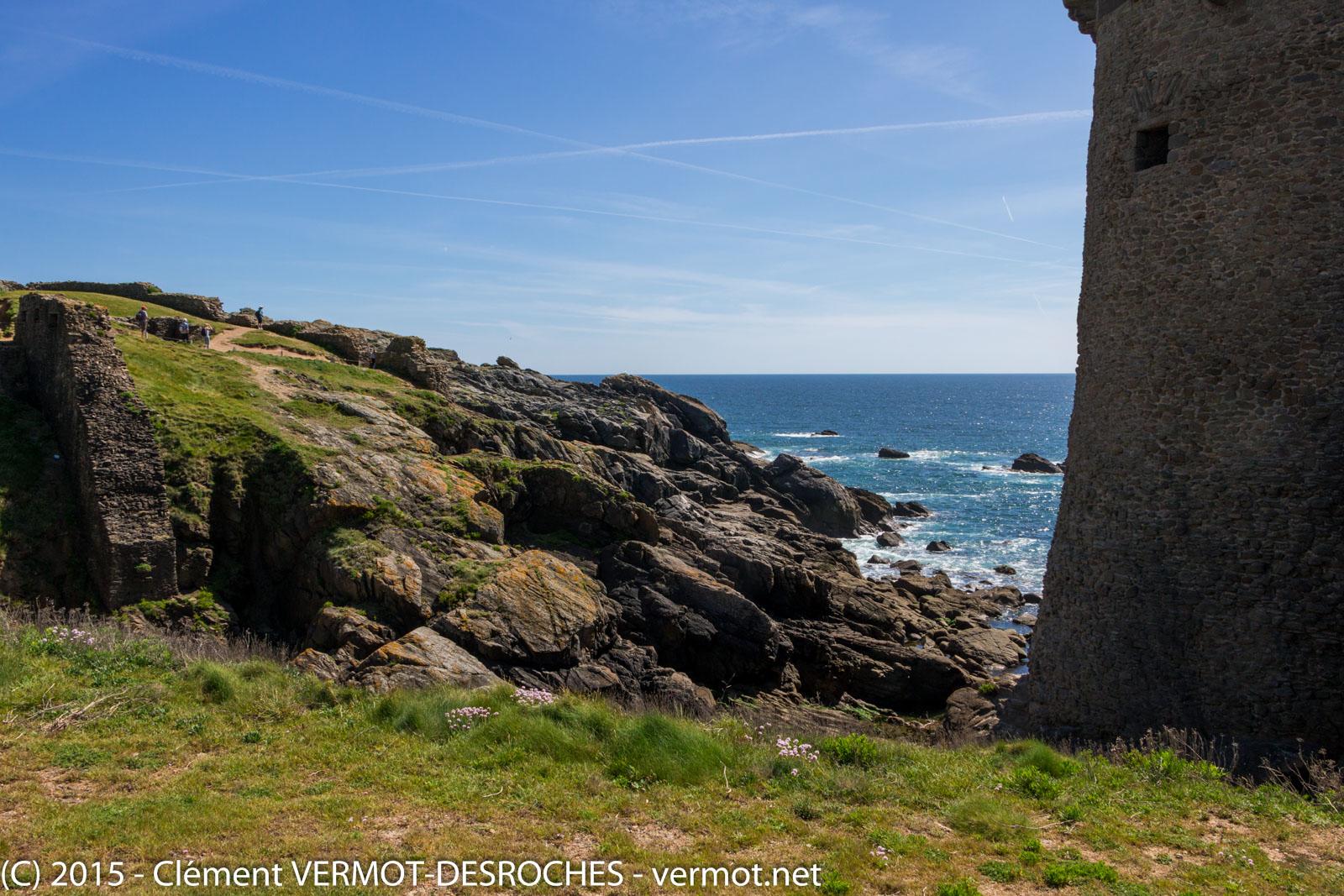Une vue du château de l'île d'Yeu
